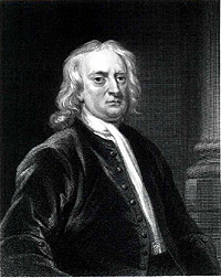 Portrait of Isaac Newton