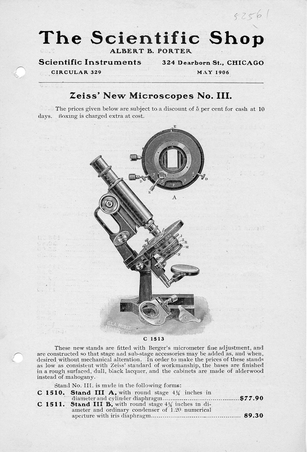 Zeiss' New Microscopes No. III,  Image number:SIL14-52561-0001