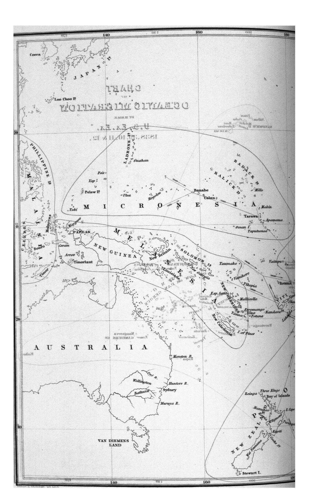 Chart of Oceanic Migration, By H. Hale, U.S. Ex. Ex. 1838.39.40.41 & 42.,  Image number:Sil19-07-015