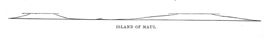 Island of Maui, in outline,  Image number:Sil19-14-235