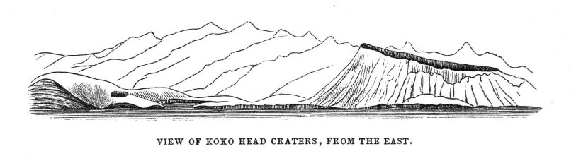 Koko Head craters, seen from the east,  Image number:Sil19-14-253