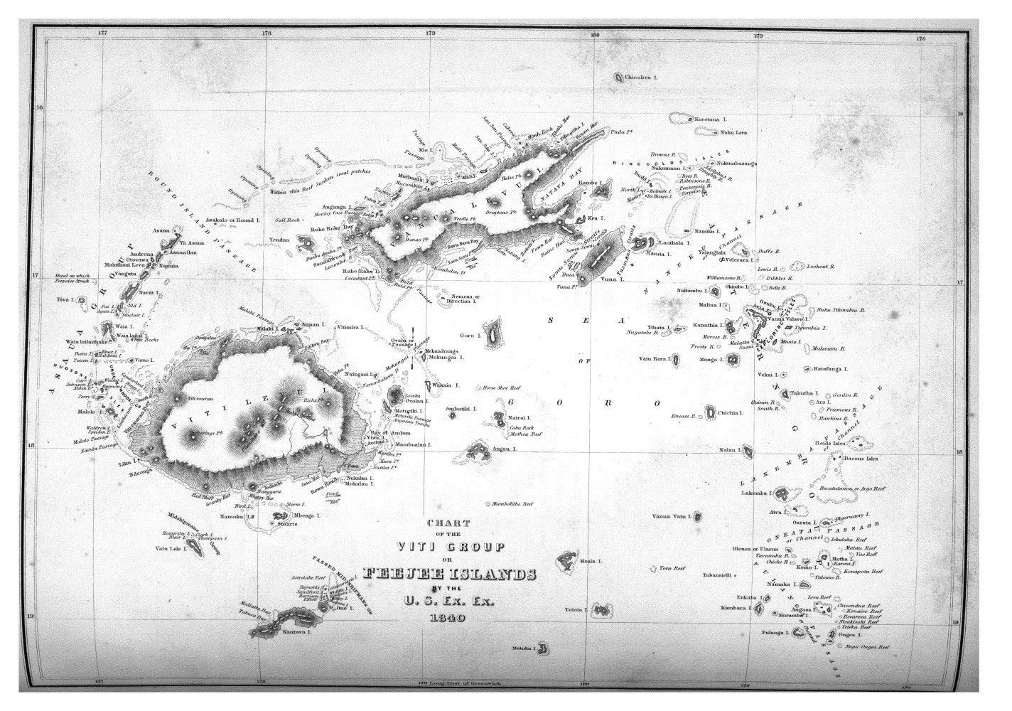 Chart of the Viti Group or Feejee Islands,  Image number:Sil19-14-347
