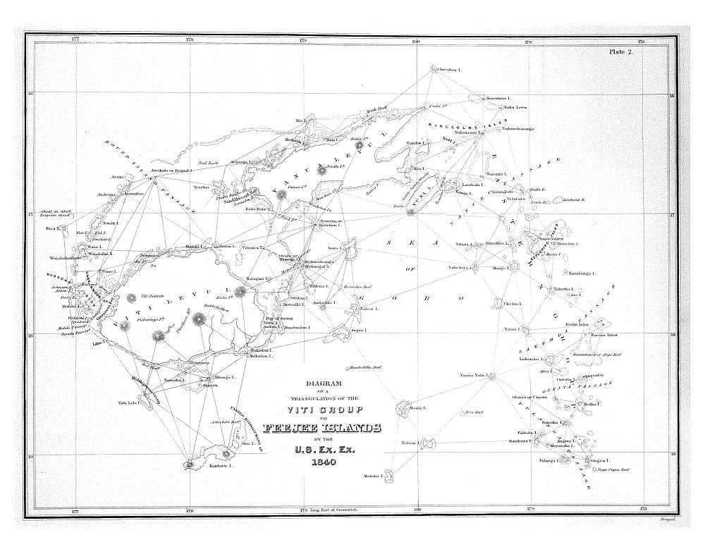 Diagram of a Triangulation of the Viti Group or Feejee Islands,  Image number:Sil19-34-016
