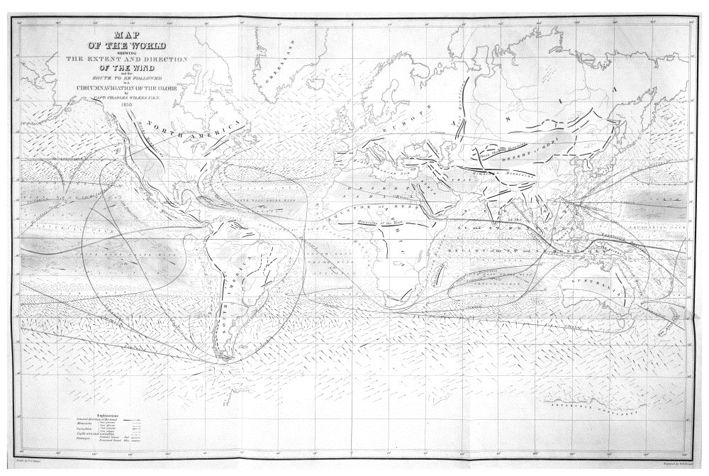 Map of the World Shewing the Extent and Direction of the Wind,  Image number:Sil19-34-380