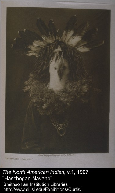 """Selections from Volume I of The North American Indian, 1907, Facing page 94 """"Haschogan-Navaho"""""""