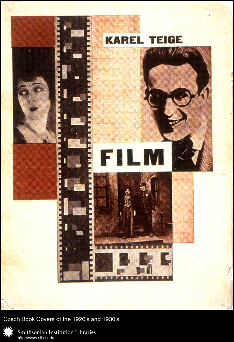 "Book cover design and typography by Karel Teige for <em>Film</em>   by Karel Teige, volume 1 of the series ""Radosti ze života"" (The Joys of Life). Praha, Václav Petr, 1925.,  Image number:sil99-008"