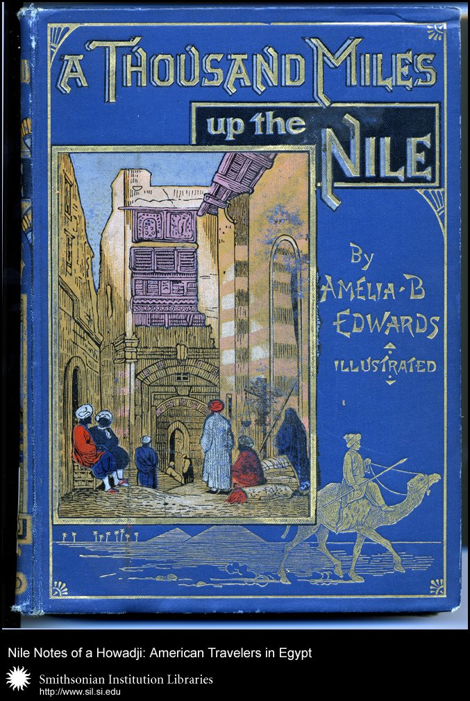 Cover, showing the ornate design in blues and gold often favored by designers of Egyptian travel books.,  Image number:SIL28-43-01