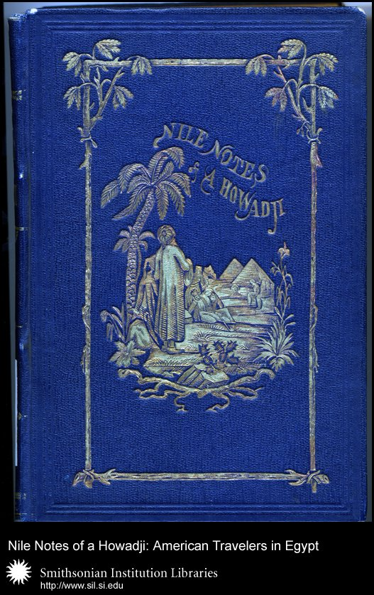 Cover, showing the ornate design in blues and gold often favored by designers of Egyptian travel books.,  Image number:sil28-44-01