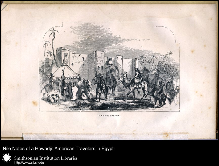 Frontispiece illustration of Egyptian street scene,  Image number:sil28-49-01