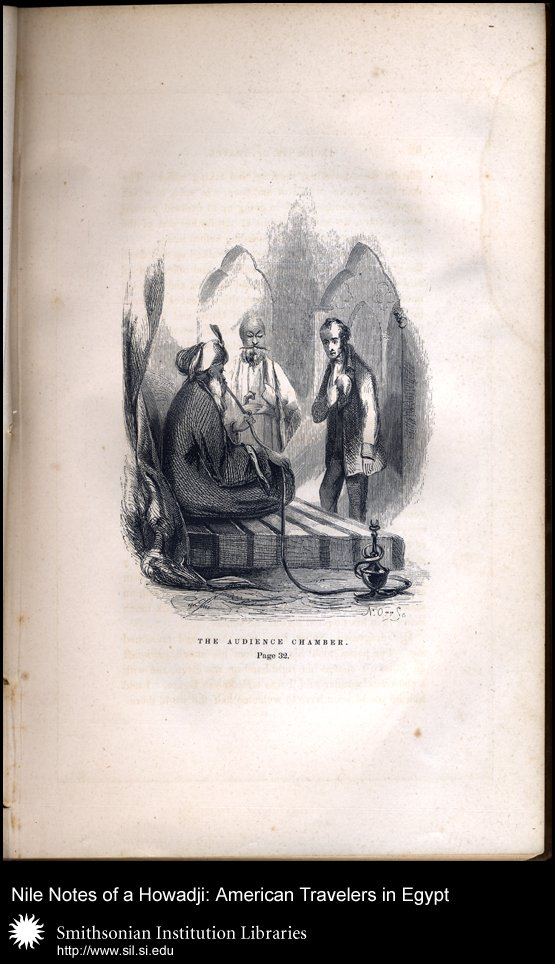 Illustration showing Stephens meeting with the Khedive (after p. 32),  Image number:sil28-49-03