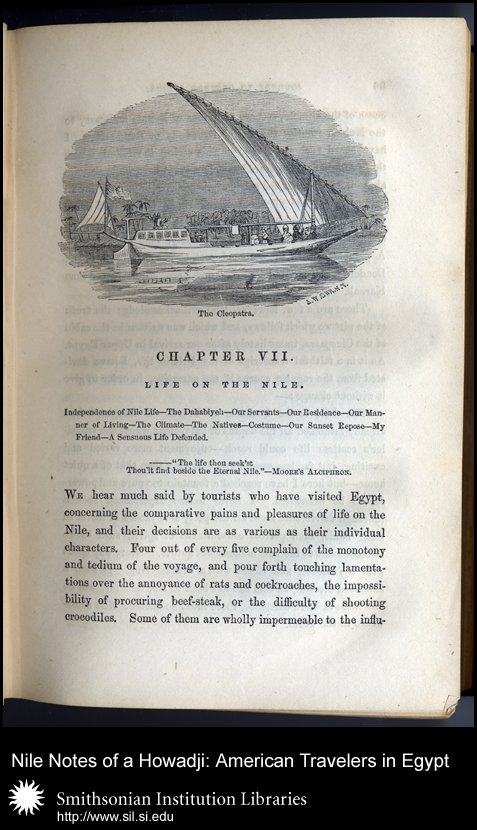 Taylor's <em>dhahabîyeh</em>, the <em>Cleopatra</em> (p. 85),  Image number:sil28-50-05
