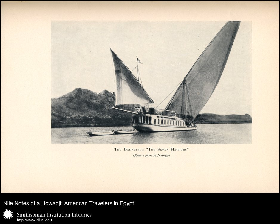 One of Wilbour's Nile sailing craft (after p. 400),  Image number:sil28-51-04