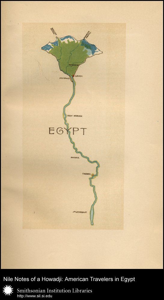 Stylized map of the Nile (before p. 1),  Image number:sil28-52-02
