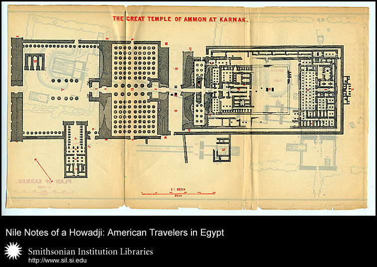 Plan of the Great Temple of Amon at Karnak,  Image number:sil28-54-03