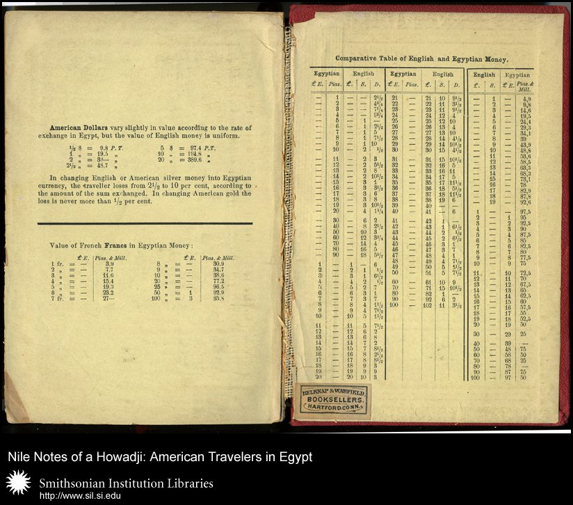 Inside back cover showing comparative money values,  Image number:sil28-55-05