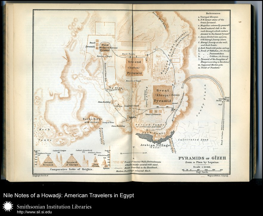 Plan of the Giza plateau (after p. 354),  Image number:sil28-56-04