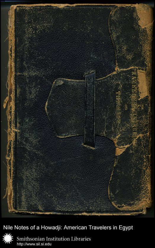 Battered cover of Lucy H. Baird's, daughter of Spencer F. Baird, travel copy,  Image number:sil28-58-01
