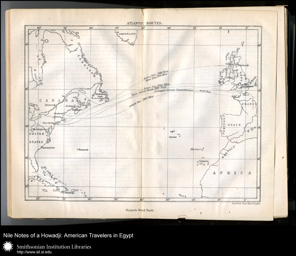 Map showing trans-Atlantic steamer routes (after p. xvi),  Image number:sil28-58-04
