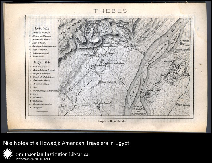Plan of Thebes, showing both sides of the Nile (after p. 502),  Image number:sil28-58-05