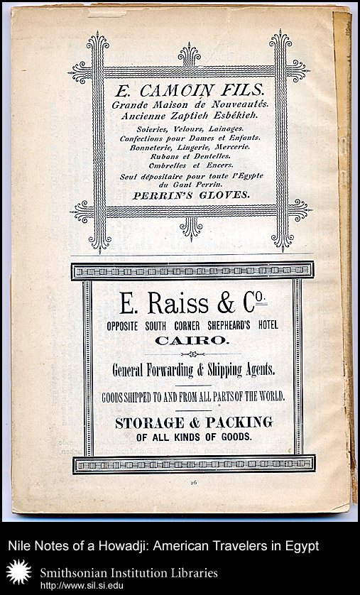 Decorative advertisements for E. Camoin Fils and E. Raiss & Co.,  Image number:sil28-99-10