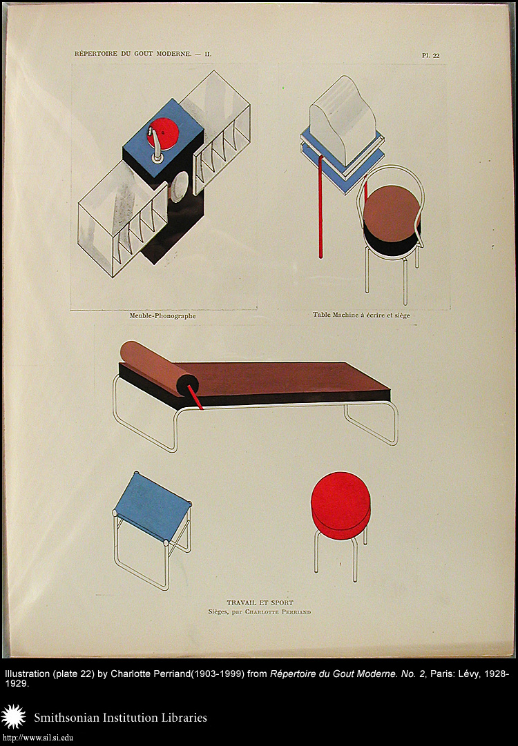 Illustration (plate 22) by Charlotte Perriand (1903-1999),  Image number:Perriand24