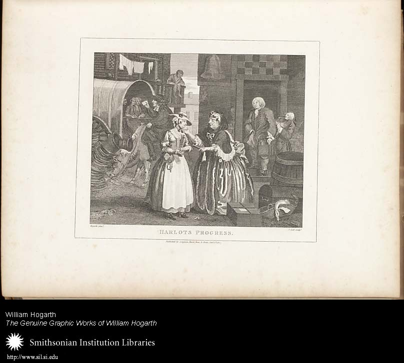 Harlot's Progress: Plate I: Ensnared by a Procuress,  Image number:SIL25-01-02a