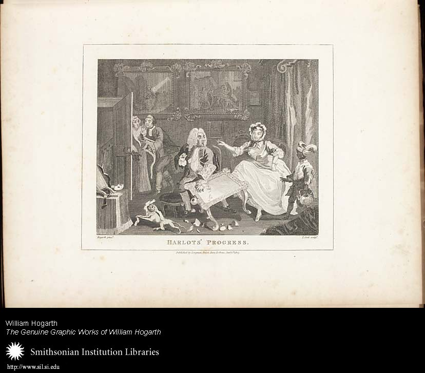 Harlot's Progress: Plate II: Quarrels with her Prosecutor,  Image number:SIL25-01-03a
