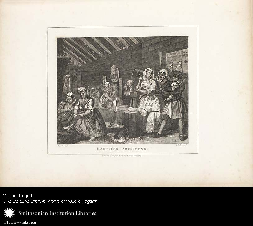 Harlot's Progress: Plate IV: Scene in Bridewell,  Image number:SIL25-01-05a