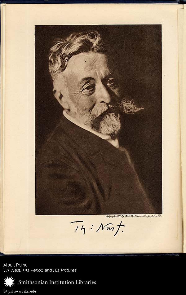 Portrait of: Thomas Nast (1840-1902),  Image number:sil25-608-01a