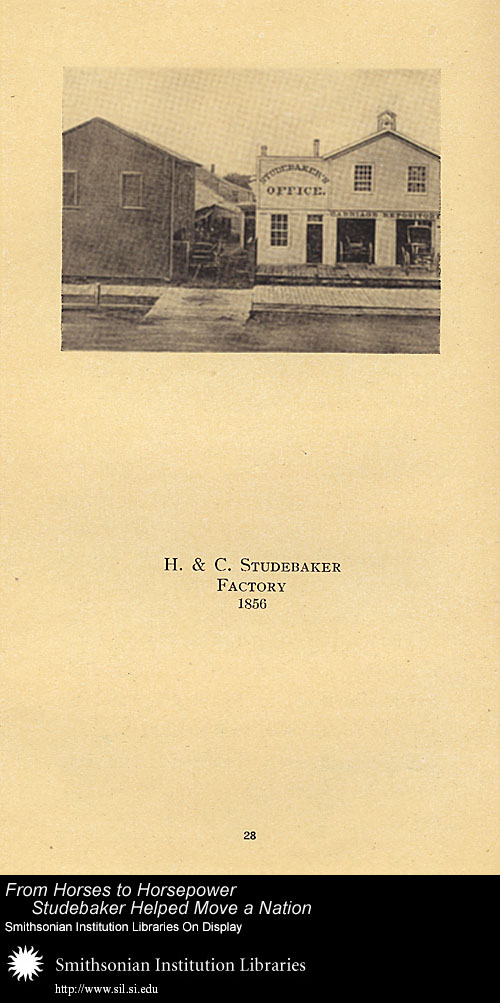 H. & C. Studebaker Factory, 1856,  Image number:SIL-028-095-03