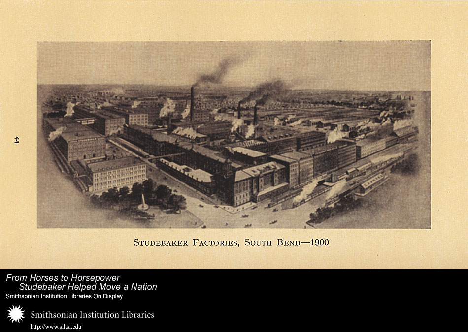 Studebaker Factories, South Bend -- 1900,  Image number:SIL-028-095-04
