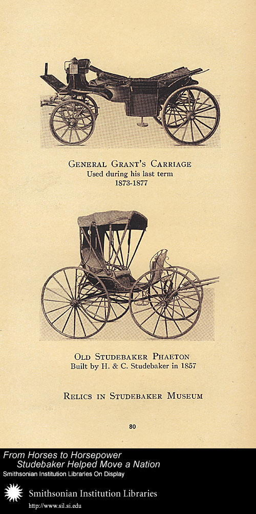 General Grant's Carriage, used during his last term, 1873-1877,  Image number:SIL-028-095-05