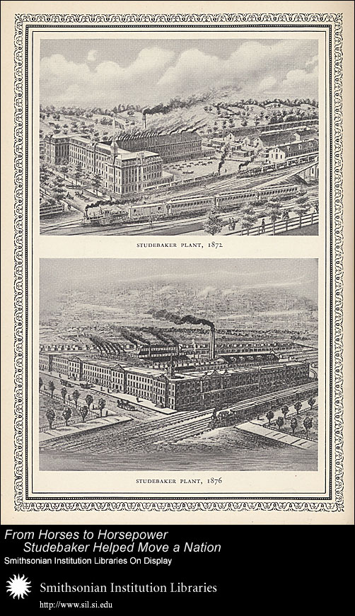 Studebaker Plant, 1872 and 1876,  Image number:SIL-028-096-05