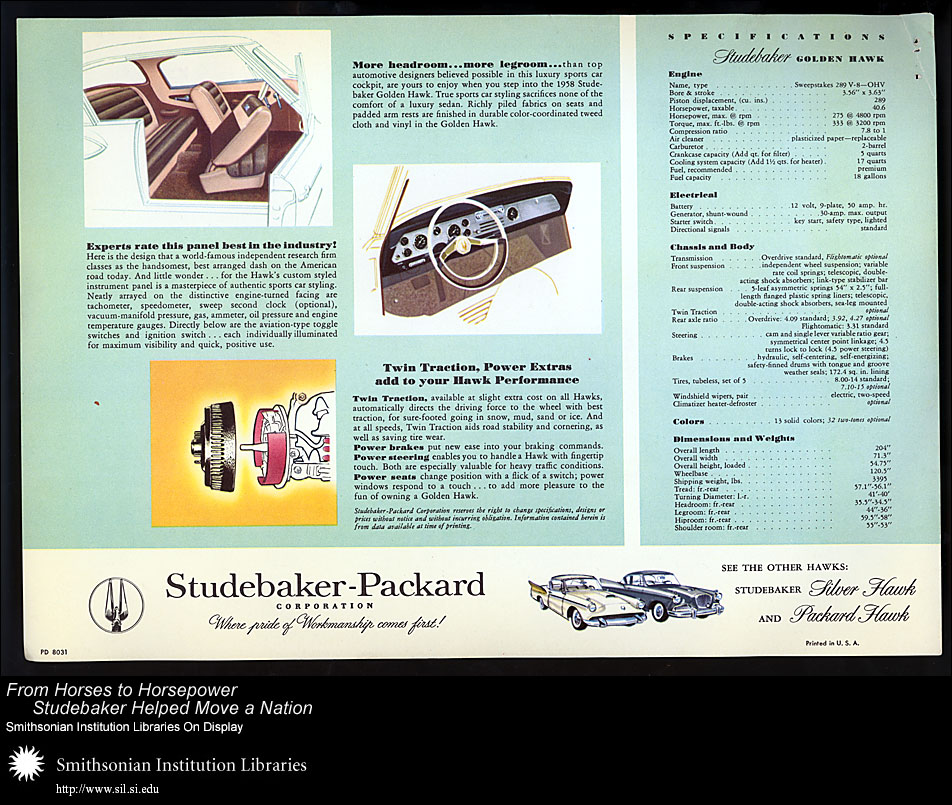 Studebaker Golden Hawk,  Image number:SIL28-39-02