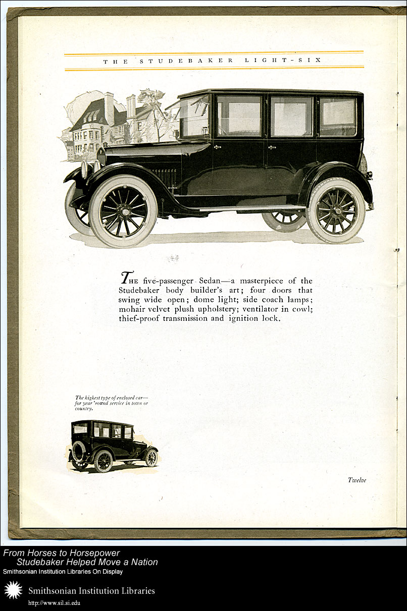 Light-Six five-passenger Sedan,  Image number:SIL28-40-12