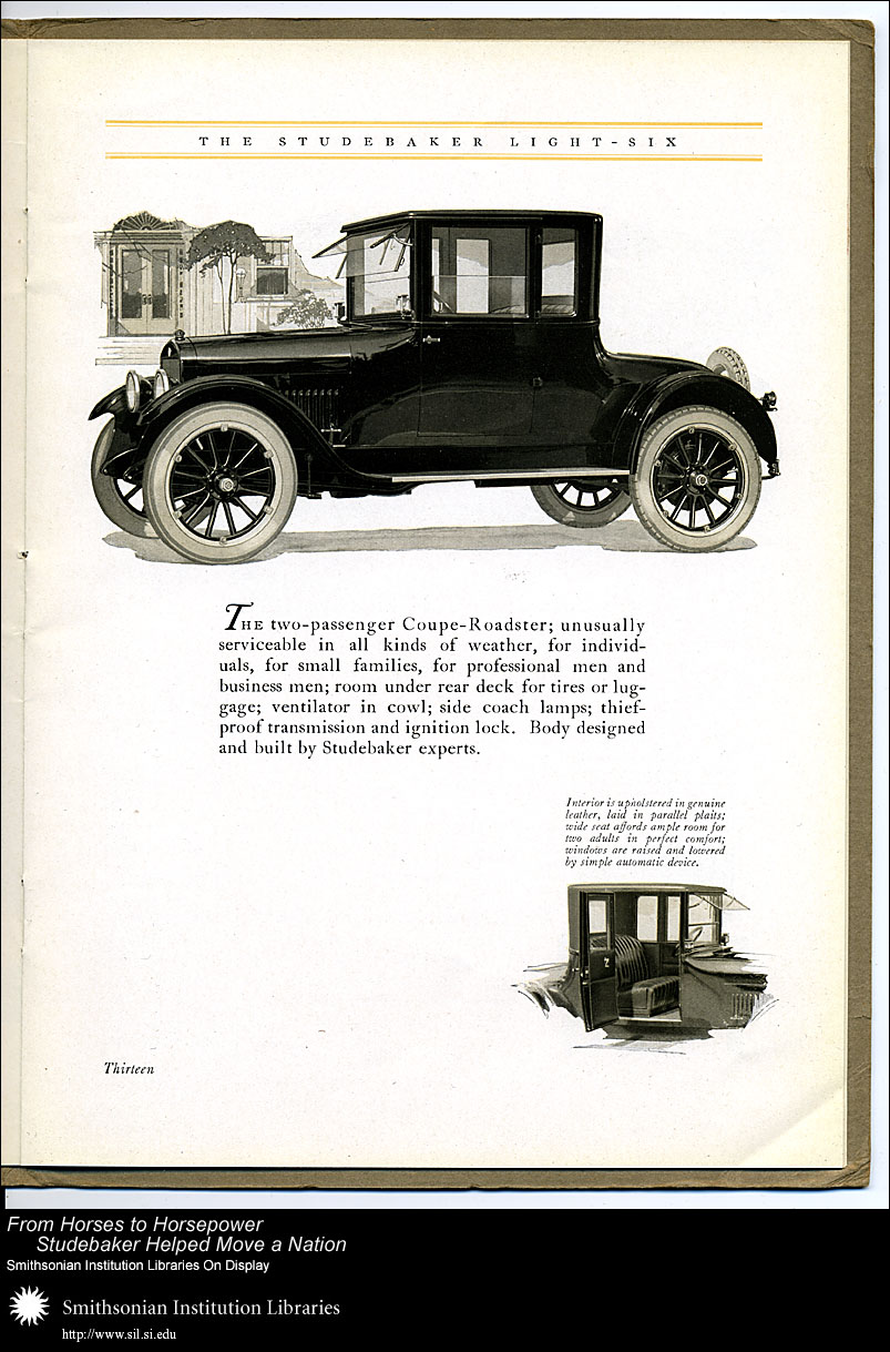 Light-Six two-passenger Coupe-Roadster,  Image number:SIL28-40-13