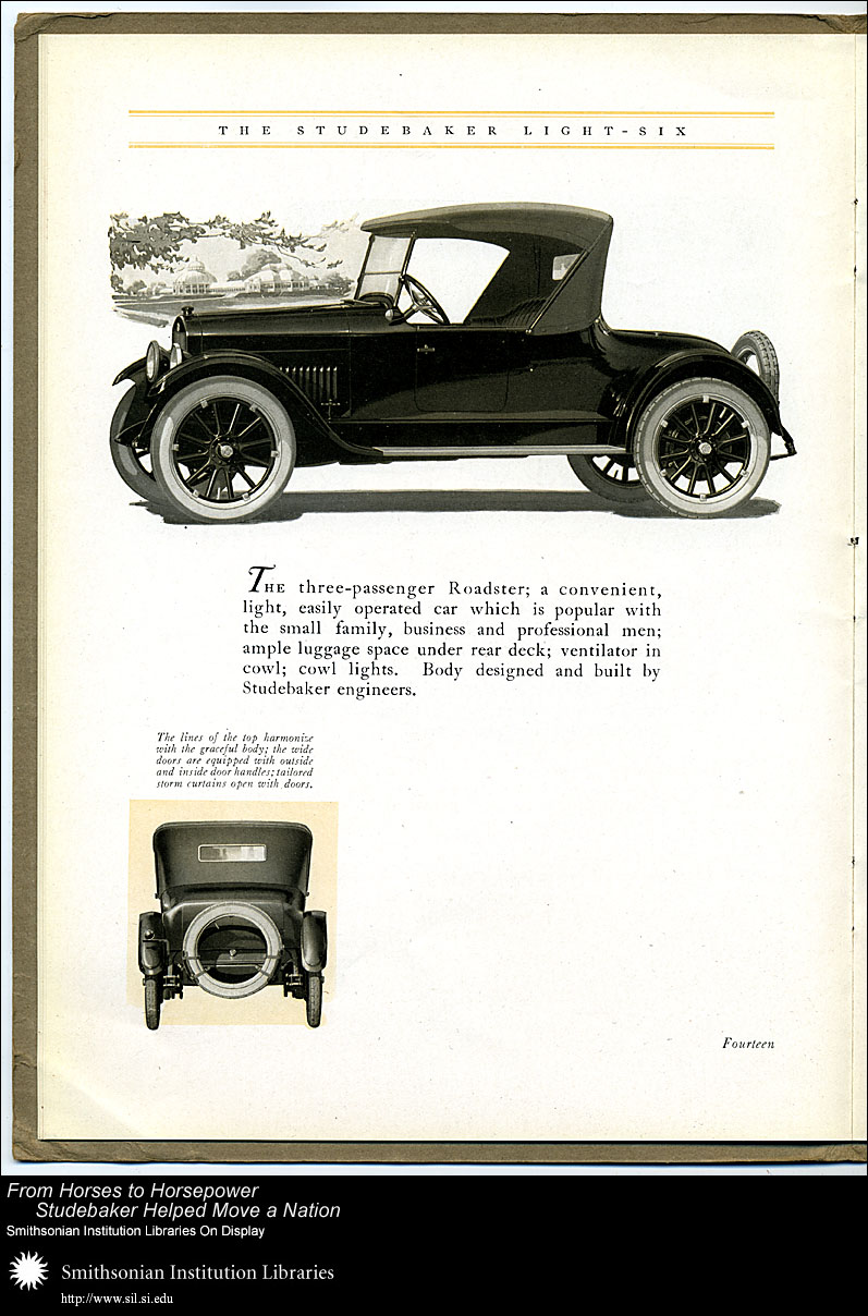 Light-Six three-passenger Roadster,  Image number:SIL28-40-14