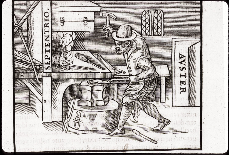 Man at work at a forge,  Image number:76-14419