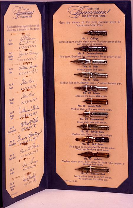 Spencerian steel pen trade catalog,  Image number:SIL7-13-01