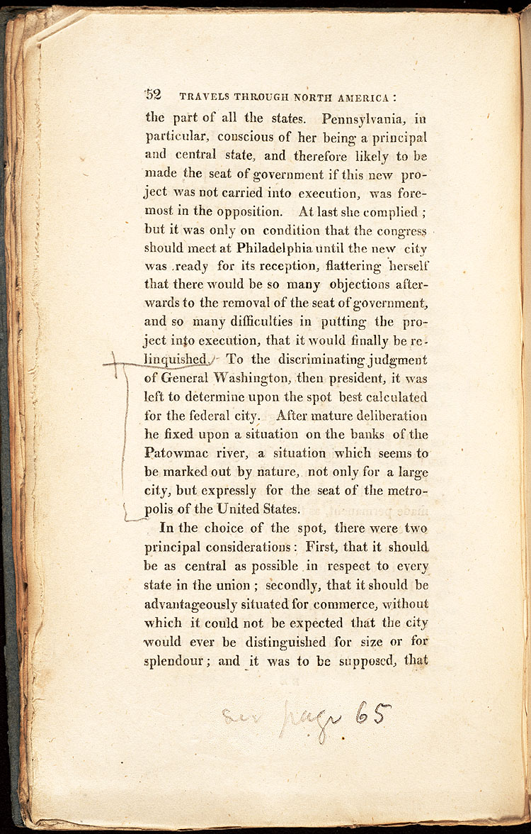 Annotation by James Smithson of Travels Through North America,  Image number:SIL28-178-02