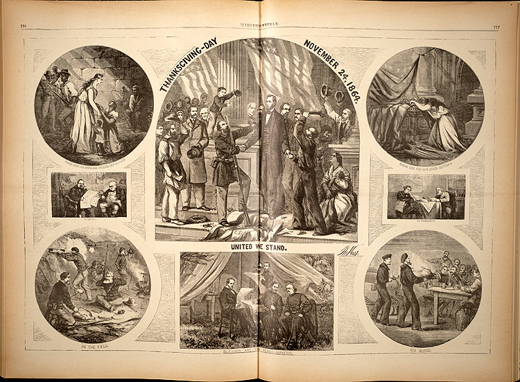 Thanksgiving Day - November 24, 1864. United We Stand.,  Image number:SIL7-185-08
