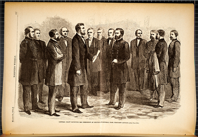 General Grant receiving his commission as Lieutenant-General from President Lincoln,  Image number:SIL7-185-10