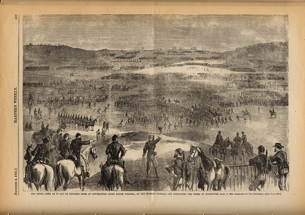 Surrender of Lee's Army at Appomattox  Court House,  Image number:SIL7-186-04