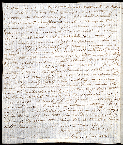 Letter of James Smithson,  Image number:SIL7-216-03