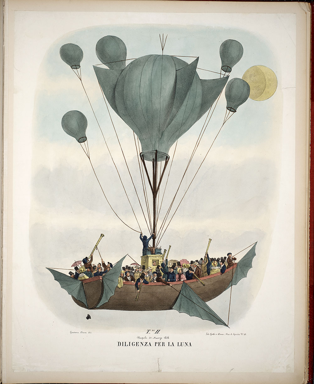 This portfolio of hand-tinted lithographs purports to illustrate the