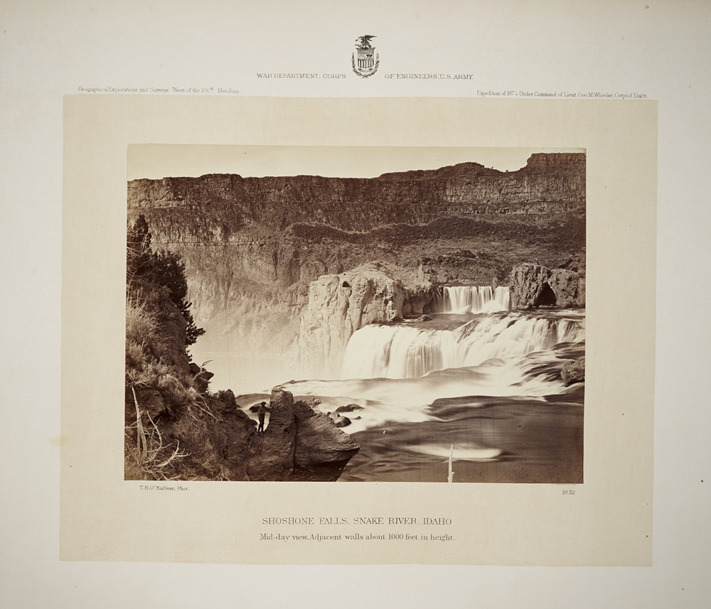 Shoshone Falls, Snake River, Idaho. Mid-day view. Adjacent walls about 1000 feet in height.,  Image number:SIL7-321-01