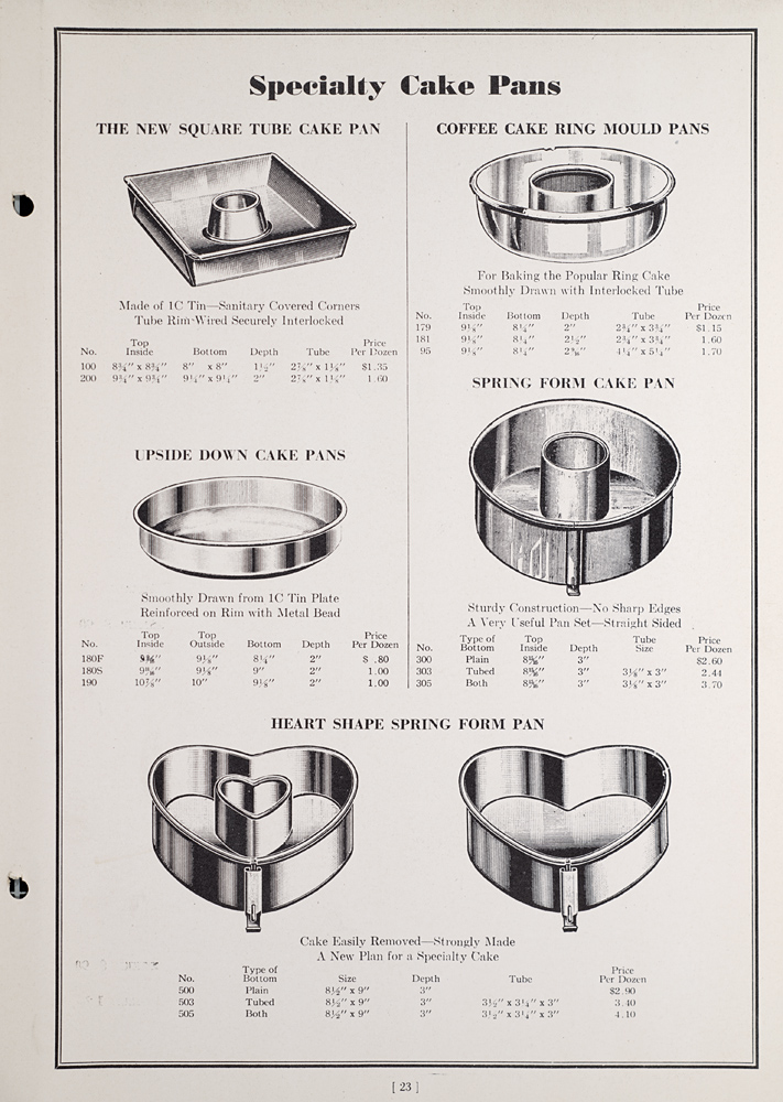 Baking Pan catalogue