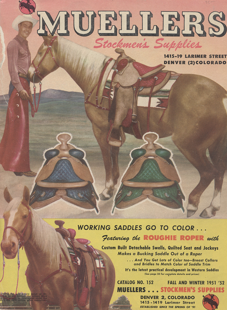 front cover of catalog (horses and saddles),  Image number:SIL-038-08-01