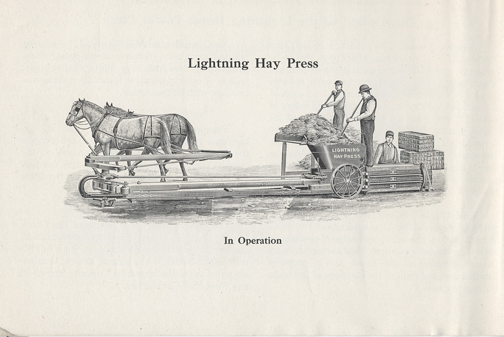 Lightning Hay Press in operation,  Image number:SIL-038-15-01