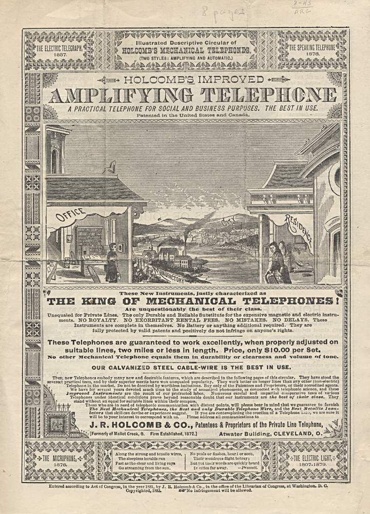 Holcomb's Amplifying Telephone ,  Image number:SIL-038-37-01